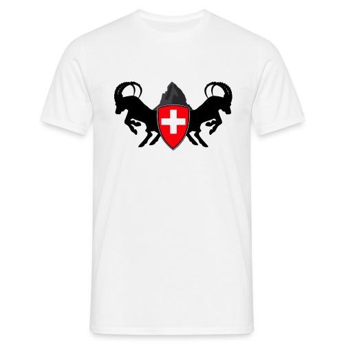 Schweizgeil Matterhorn mit Steinböcken - Männer T-Shirt