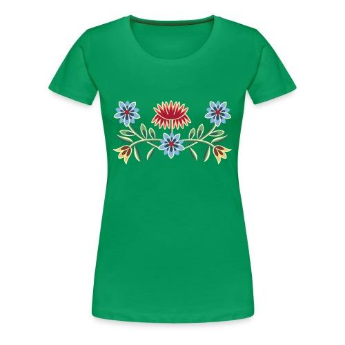 Nordlandsbunad broderi-illustrasjon - Premium T-skjorte for kvinner