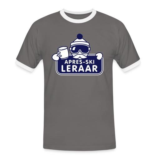 apresski leraar proost! - Mannen contrastshirt