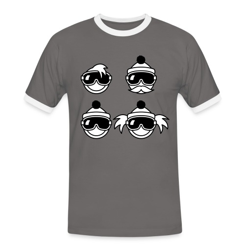 4 hipster smileys - Mannen contrastshirt
