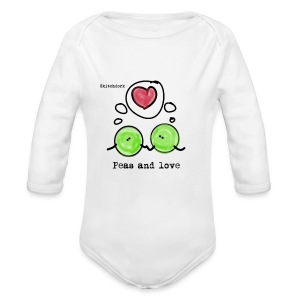 Peas and love for bebisa - Økologisk langermet baby-body