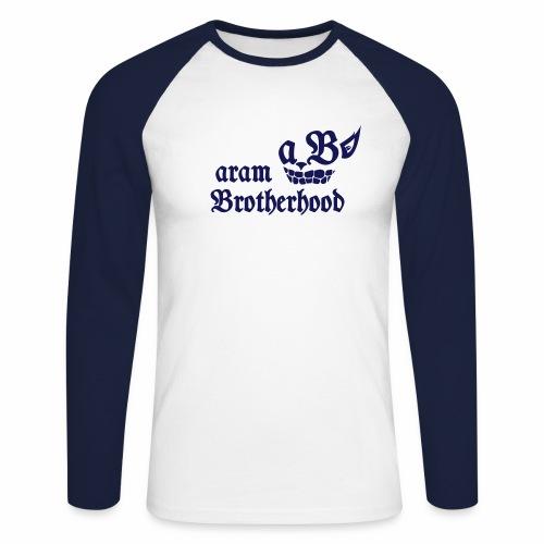 Navy - Aram Brotherhood - Männer Baseballshirt langarm