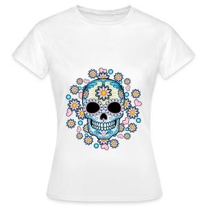 Floral Skull - Hipster  - Women's T-Shirt