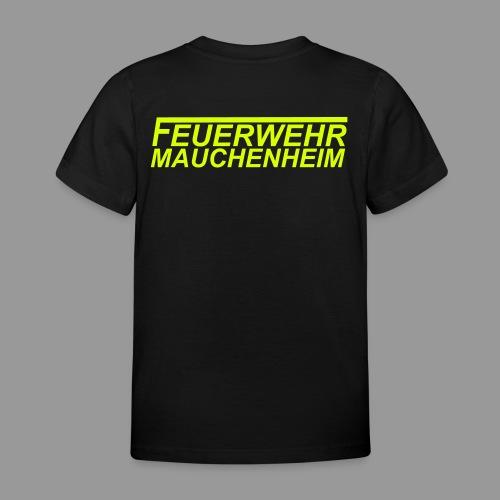 Kinder T-Shirt 98/104 bis 122/128 Schrift gelb - Kinder T-Shirt