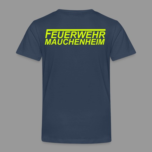Kinder Premium T-Shirt 98/104 bis 134/140 Schrift gelb - Kinder Premium T-Shirt