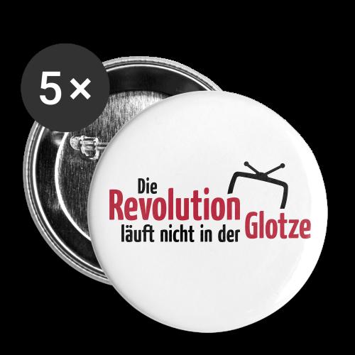 Die Revolution läuft nicht in der Glotze - Buttons klein 25 mm (5er Pack)