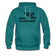 Pullover & Hoodies ~ Männer Premium Kapuzenpullover ~ Kapuzenpulli: Logo + Schriftzug vorne (schwarzer Aufdruck)
