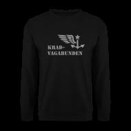 Pullover & Hoodies ~ Männer Pullover ~ KRAD-VAGABUNDEN Pulli Männer (grauer Druck)