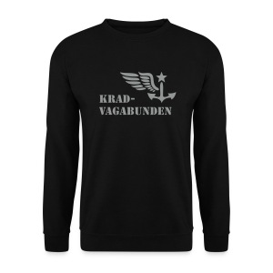 sweatshirt - men - krad-vagabunden - grey print - Men's Sweatshirt