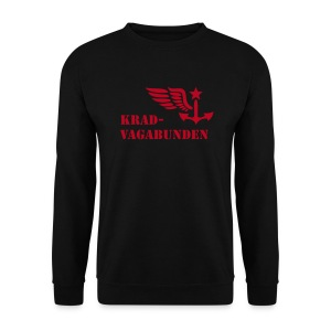 sweatshirt - men - krad-vagabunden - red print - Men's Sweatshirt