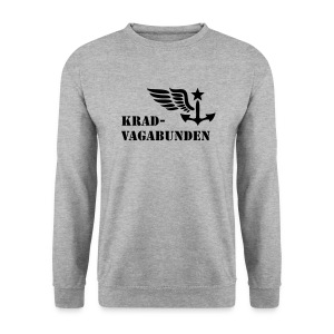 sweatshirt - men - krad-vagabunden - black print - Men's Sweatshirt
