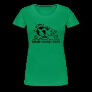 T-Shirts ~ Frauen Premium T-Shirt ~ Girlie-Shirt: Glücksschwein (schwarzer Aufdruck) - runder Halsausschnitt
