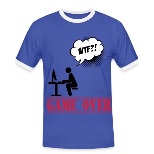 Tee Shirt Homme bleu Geek - T-shirt contrasté Homme