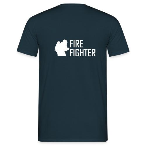 Shirt Fire Fighter (Rücken) - Männer T-Shirt