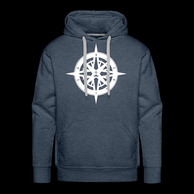 ec61eb8977 Anchstache   kompass hoodie jungs - Männer Premium Hoodie