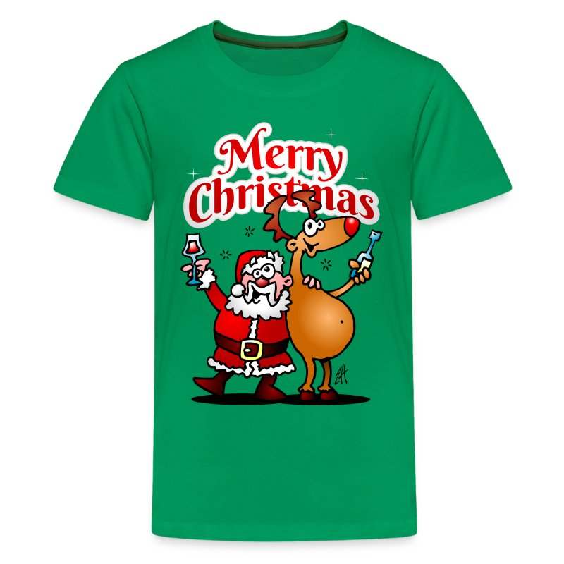 Merry christmas santa claus and his reindeer t shirt Merry christmas t shirt design