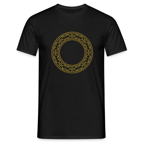 Goldene Doppel-Pfeile im Ring - Männer T-Shirt