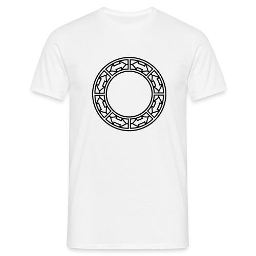 Doppel-Pfeile im Ring - Männer T-Shirt