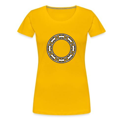 Doppel-Pfeile im Ring 2c - Frauen Premium T-Shirt
