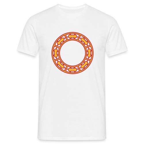 Doppel-Pfeile im Ring 2c - Männer T-Shirt