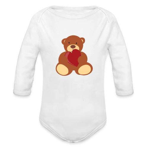 Body nounours - Body bébé bio manches longues
