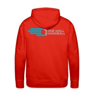 Hoody, urban basic met logo One Wall Handball op de rug - Mannen Premium hoodie