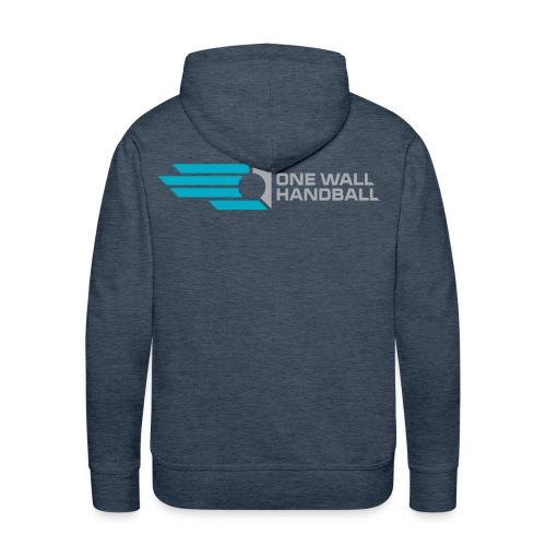 Hoodie Urban Basic, met logo One Wall Handball - Mannen Premium hoodie