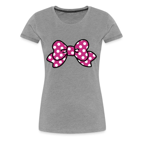 CUTE RIBBON pink (bis 3XL) - Frauen Premium T-Shirt