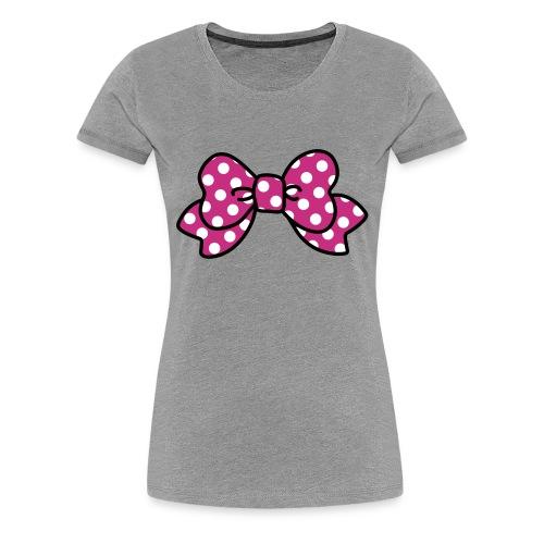 CUTE RIBBON pink (bis 3XL) - Frauen Premium T-Shirt