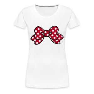 CUTE RIBBON minnie (bis 3XL) - Frauen Premium T-Shirt