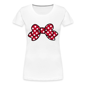 CUTE RIBBON minnie (bis 3XL) - Frauen Premium T-Shirt