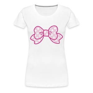 CUTE RIBBON sweet pink (bis 3XL) - Frauen Premium T-Shirt