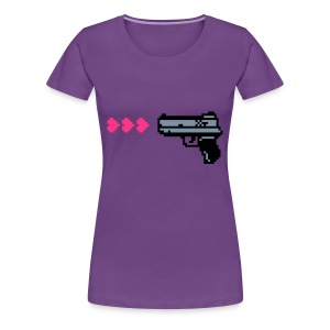 PIXELGUN silver/pink (bis 3XL) - Frauen Premium T-Shirt