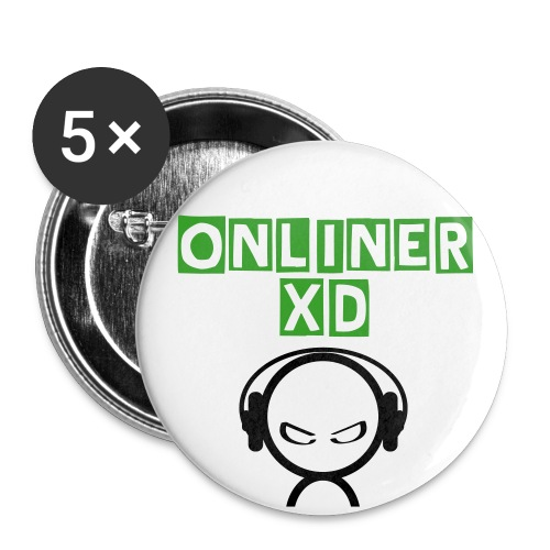 oNlineRXD Buttons small 25 mm - Buttons small 1''/25 mm (5-pack)