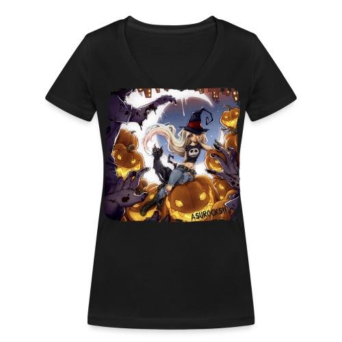 RoRo Halloween Shirt V - Frauen Bio-T-Shirt mit V-Ausschnitt von Stanley & Stella