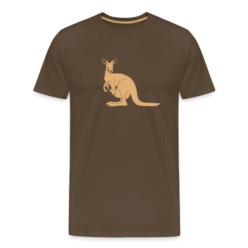 tier t-shirt känguru kangaroo roo australien aussie australia beuteltier - Männer Premium T-Shirt