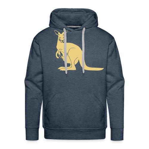 tier t-shirt känguru kangaroo roo australien aussie australia beuteltier - Männer Premium Hoodie
