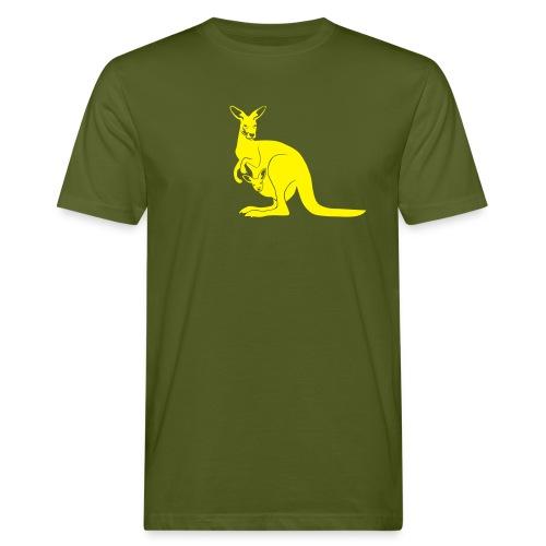 tier t-shirt känguru kangaroo roo australien aussie australia beuteltier - Männer Bio-T-Shirt