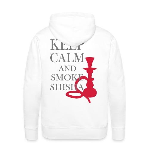 KEEP CLAM AND SMOKE SHISHA MEN - Männer Premium Hoodie