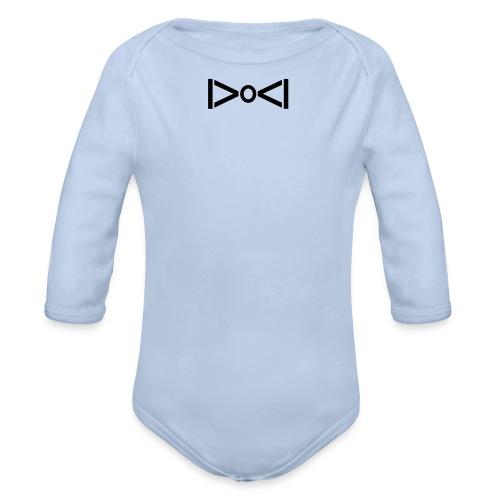 BOW TIE - Organic Longsleeve Baby Bodysuit