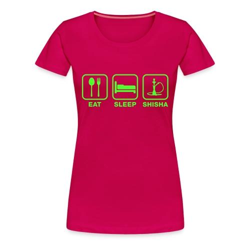 EAT - SLEEP - SHISHA Women Premium - Frauen Premium T-Shirt