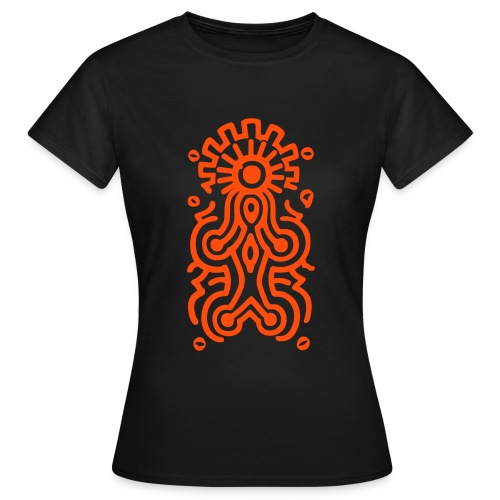 Maya Göttin, orange - Frauen T-Shirt