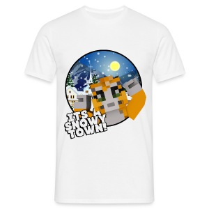 It's A Snowy Town - Men's T-shirt  - Men's T-Shirt