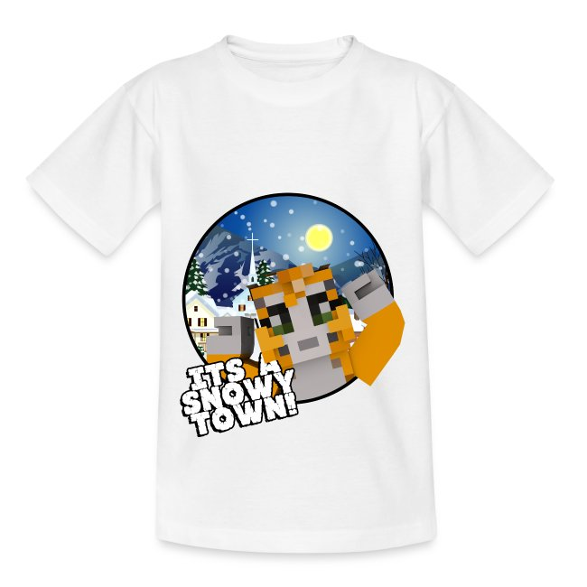 It's A Snowy Town - Child's T-shirt