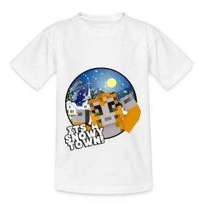 It's A Snowy Town - Teenagers's T-shirt  - Teenage T-shirt