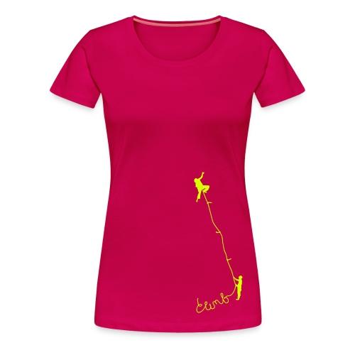 Climb - Frauen Premium T-Shirt