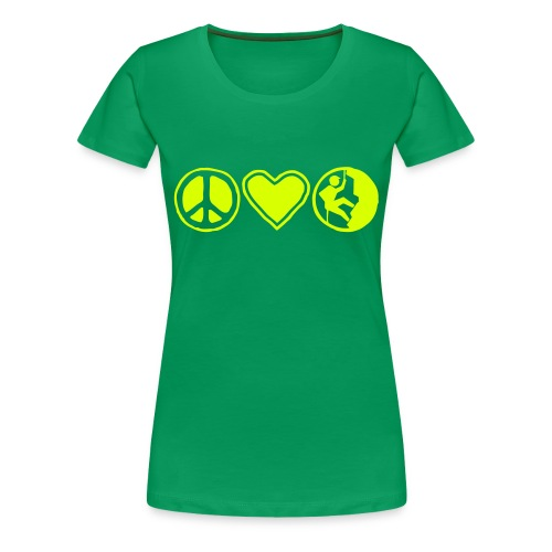 Peace, Love, Climb - Frauen Premium T-Shirt