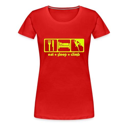 Eat*Sleep*Climb - Frauen Premium T-Shirt