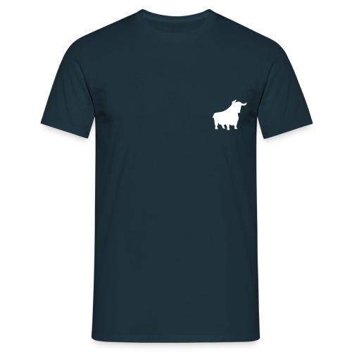Shirt weißer Flock nur Brust - Männer T-Shirt