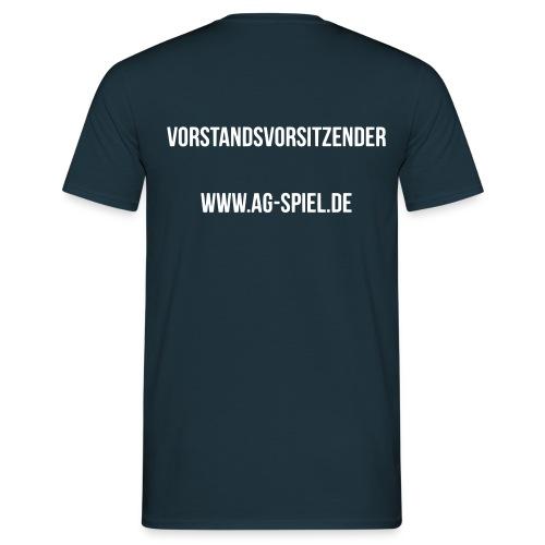 Shirt weißer Flock VV - Männer T-Shirt
